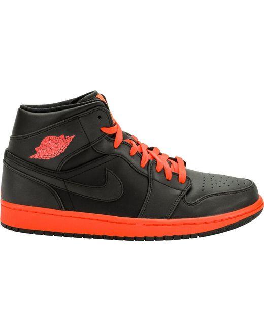 d11c542f40521e Lyst - Nike 1 Retro Mid Black Infrared in Black for Men