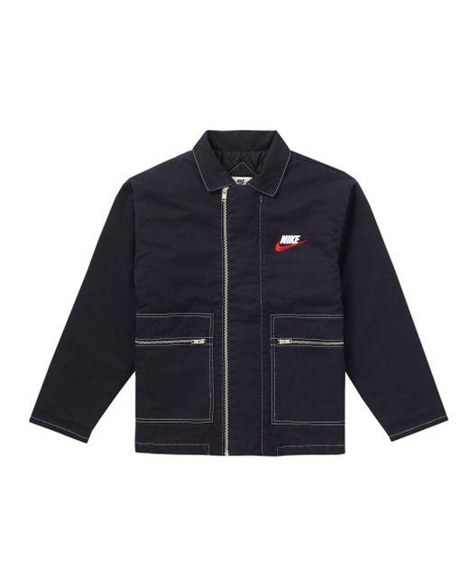 メンズ Supreme Nike Double Zip Quilted Work Jacket Black