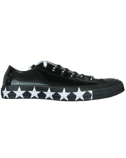 Converse Chuck Taylor All-star Ox Miley Cyrus Black White Stars (w)
