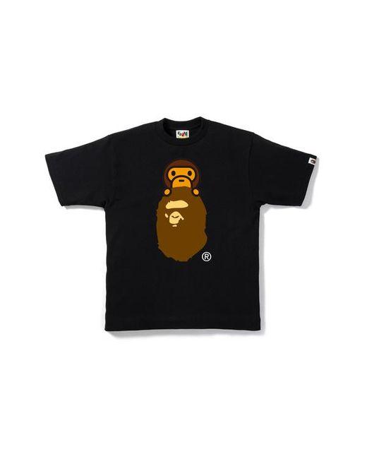 7060791c A Bathing Ape Milo On Ape Head Tee Black in Black for Men - Lyst