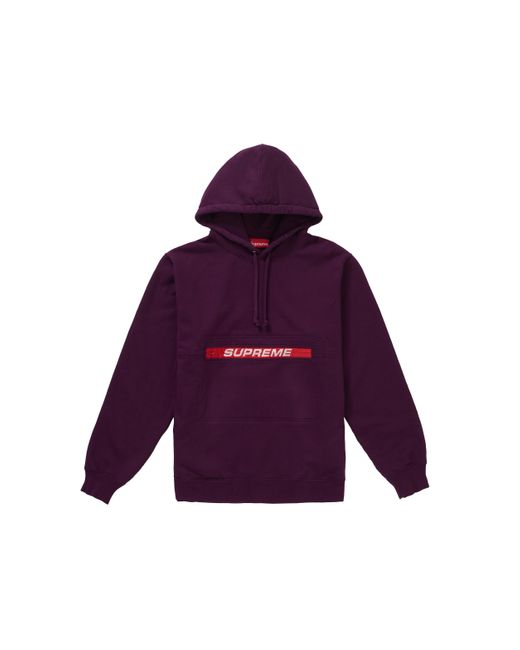 Champion Mens Big and Tall Poly Po Hood with Contrast Sleeve Zip Pouch