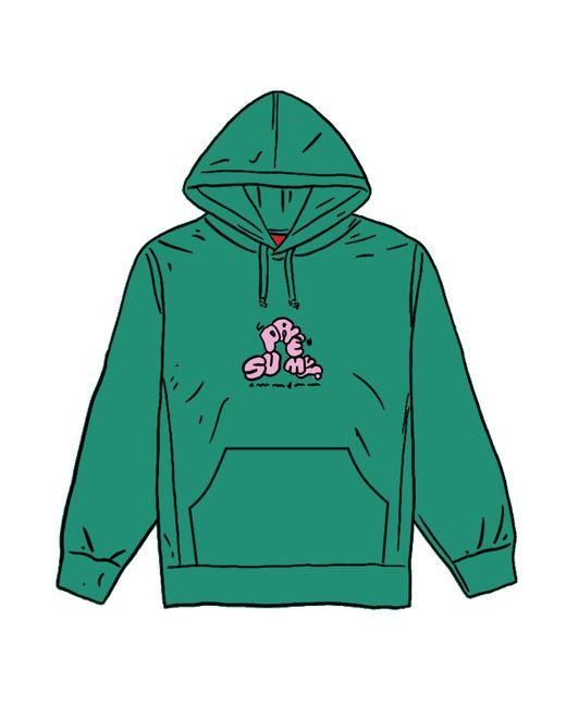 メンズ Supreme Don't Care Hooded Sweatshirt Green