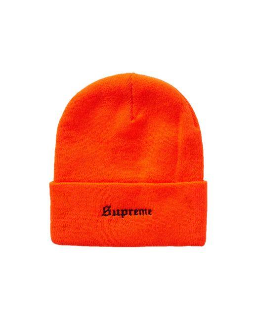 """Supreme Orange Ben Davis Beanie """"fw 19"""""""