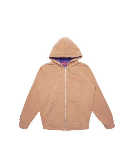 メンズ Supreme Contrast Zip Up Hooded Sweatshirt Brown