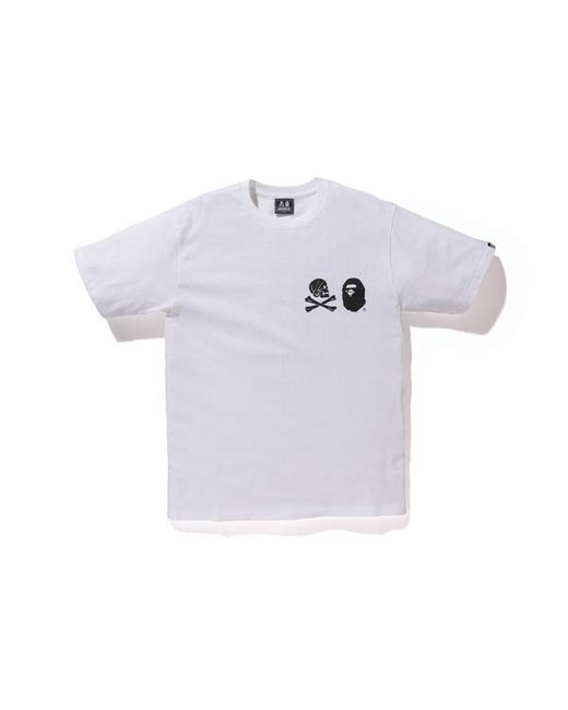 42ee03ac Lyst - A Bathing Ape Nbhd Tee 2 White/black in White for Men