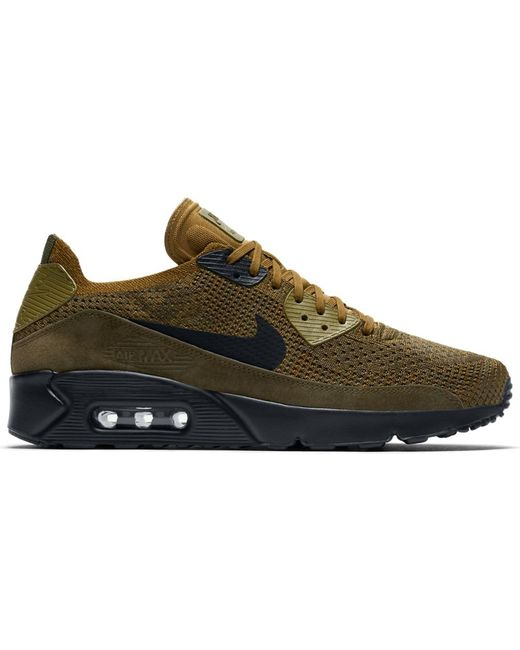 Nike Green Air Max 90 Ultra 2.0 Flyknit Olive Flak for men