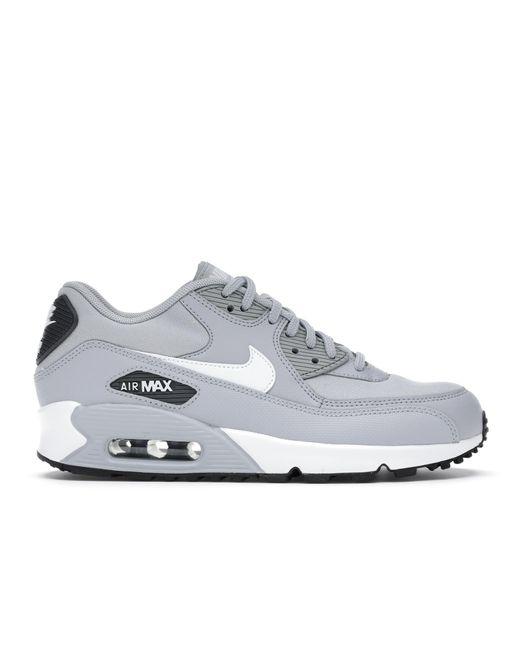 Nike Gray Air Max 90 Wolf Grey White Black (w)
