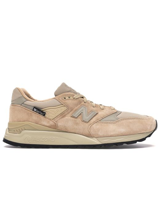 New Balance Natural Made In Usa 998 Beige & Grey Detail Suede Trainers for men