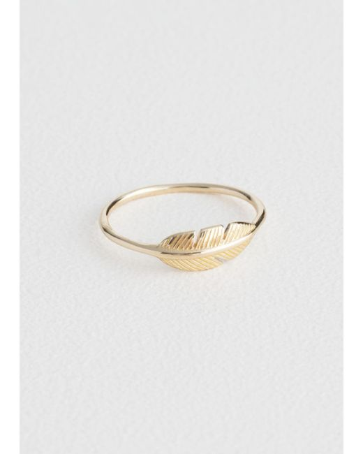 & Other Stories - Metallic Feather Ring - Lyst