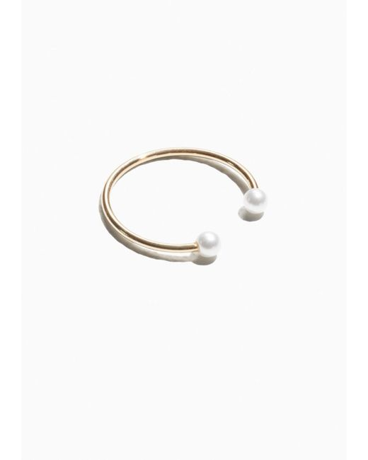 & Other Stories | White Open Pearl Stone Ring | Lyst