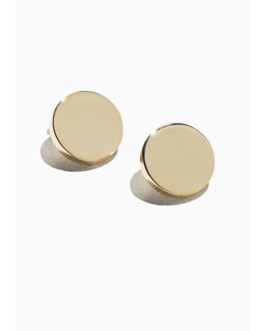 & Other Stories | Metallic Gold Plate Earrings | Lyst