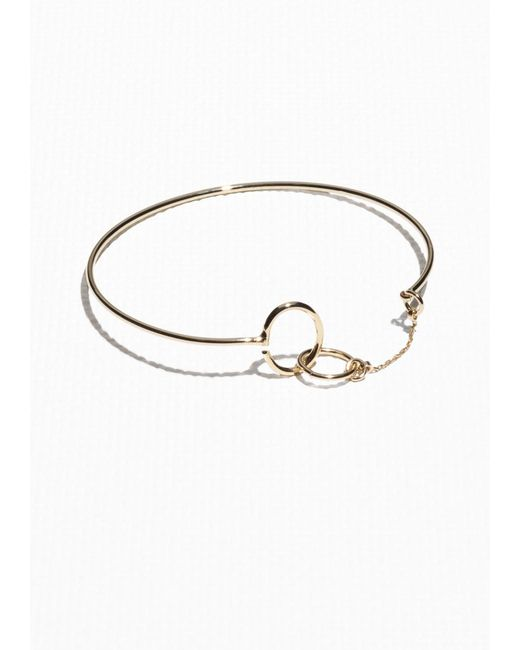 & Other Stories | Metallic Oval Loop Cuff | Lyst