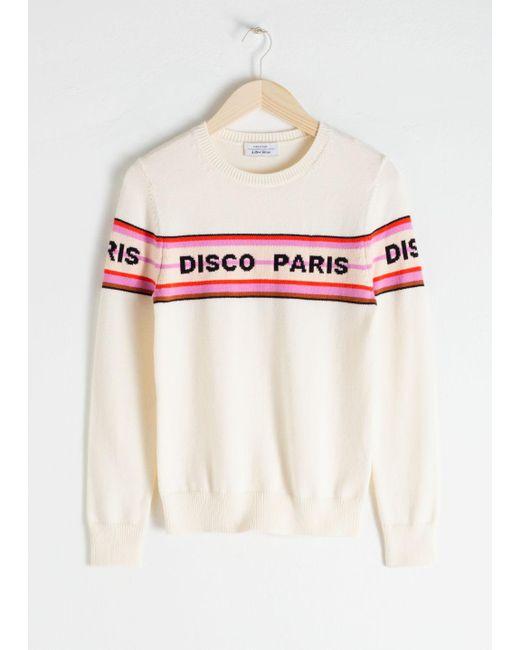 668d6a3a63b Women's White Disco Paris Cotton Pullover