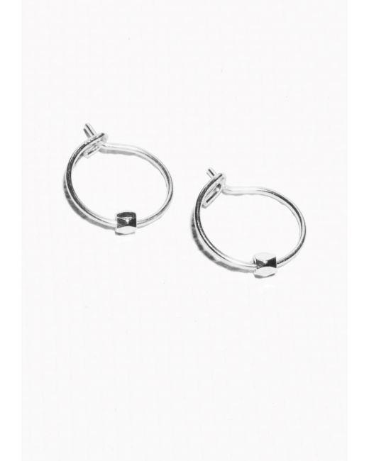 & Other Stories   Metallic Faceted Bead Hoop Earrings   Lyst