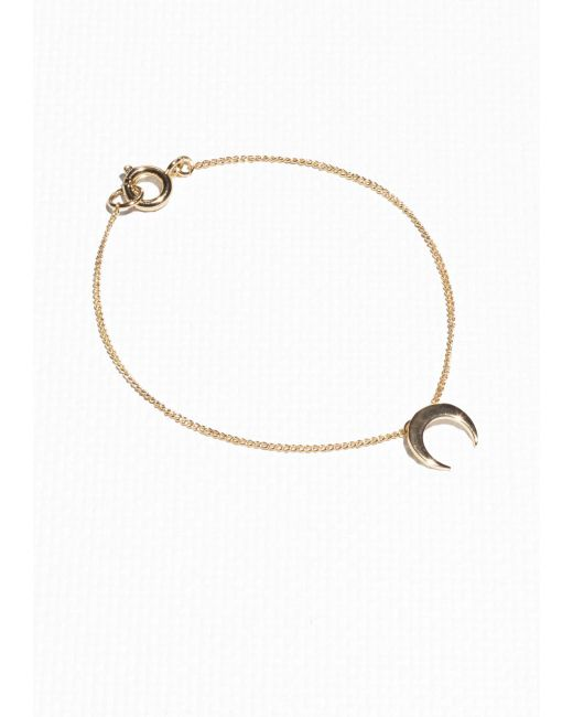 & Other Stories | Metallic Crescent Moon Bracelet | Lyst