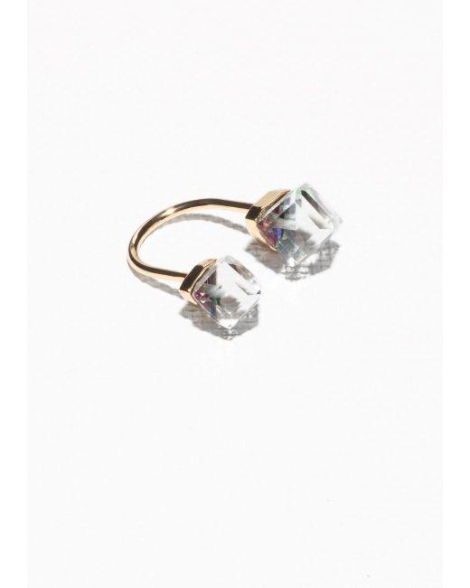 & Other Stories | Metallic Open Diamond Ring | Lyst