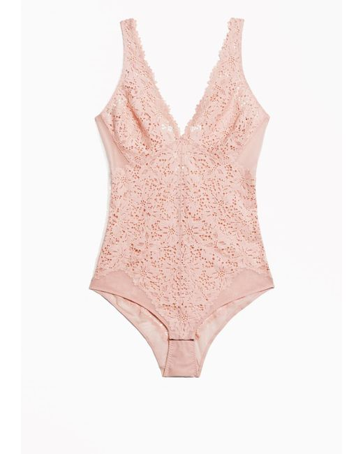 & Other Stories | Pink Floral Lace Body | Lyst
