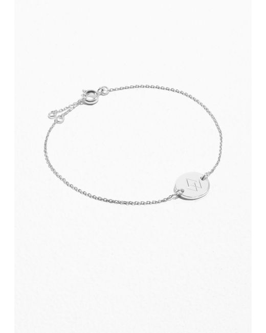 & Other Stories - Metallic Cut Plate Bracelet - Lyst