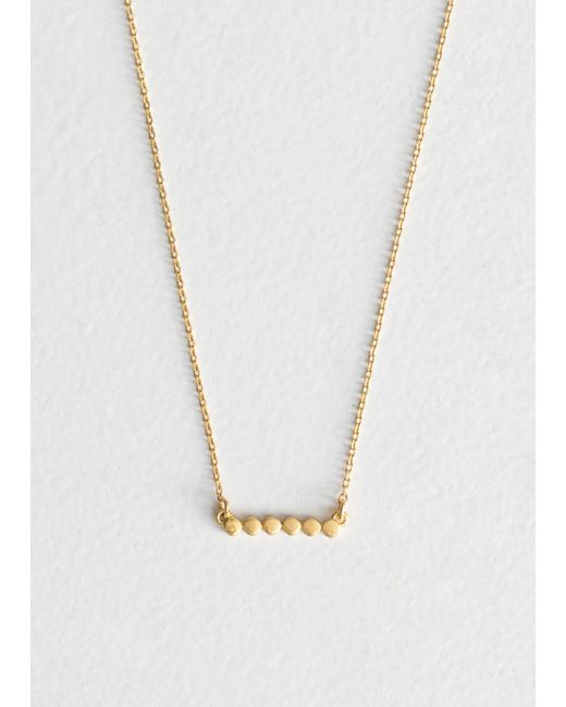 & Other Stories - Metallic Six Dot Charm Necklace - Lyst