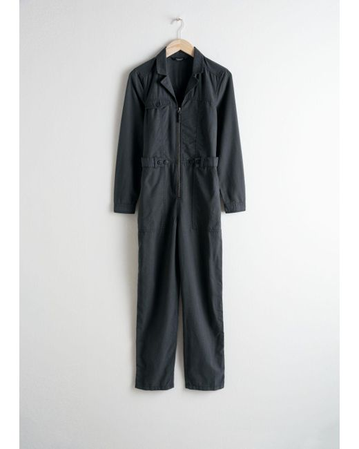 & Other Stories - Black Utility Workwear Boilersuit - Lyst