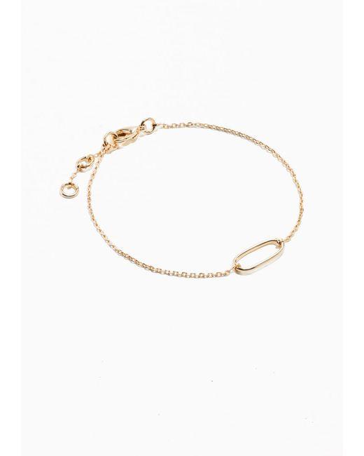 & Other Stories   Metallic Chain Bracelet   Lyst