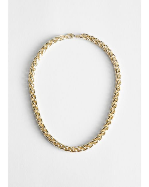 & Other Stories Metallic Twisted Chain Link Necklace