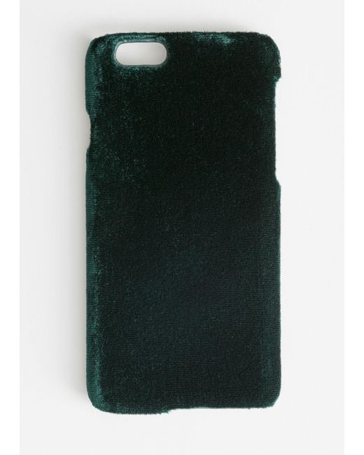 & Other Stories Green Velvet Iphone Case