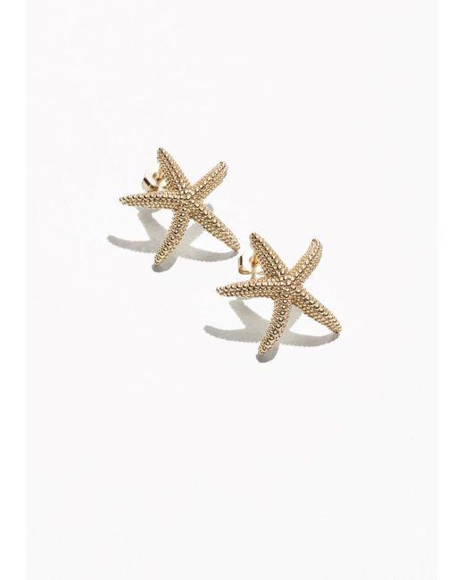 & Other Stories | Metallic Star Fish Stud Earrings | Lyst