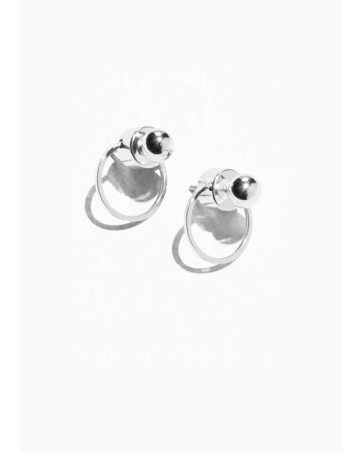 & Other Stories - Metallic Circular Drop-back Earrings - Lyst