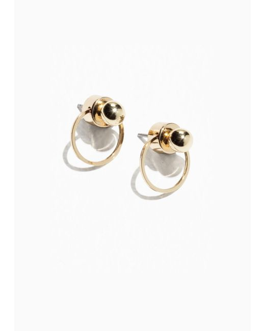 & Other Stories - Metallic Circular Drop-back Earrings - Lyst