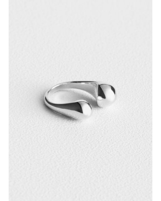& Other Stories - Metallic Open Ring - Lyst