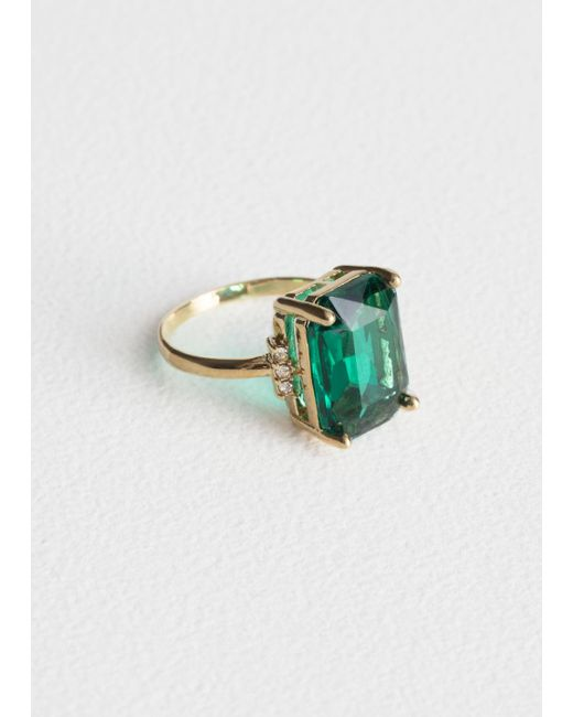 & Other Stories - Green Jewel Ring - Lyst