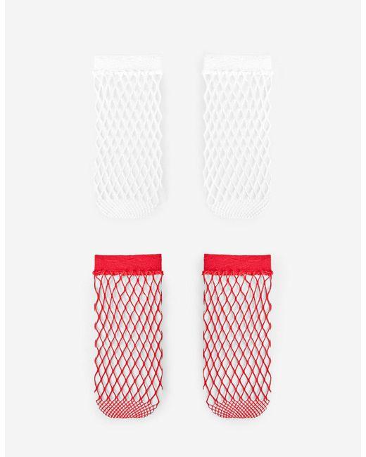 Stradivarius | Red Set Of 2 Pairs Of Mesh Socks | Lyst