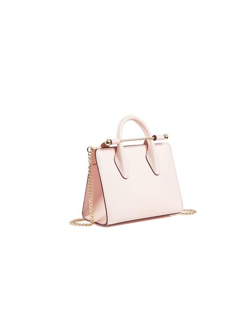 Strathberry The Nano Tote In Baby Pink Leather