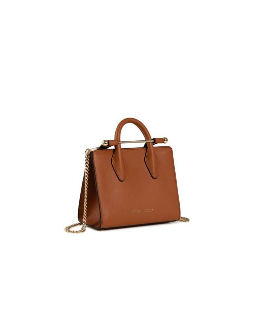 Strathberry - Brown The Nano Tote - Lyst