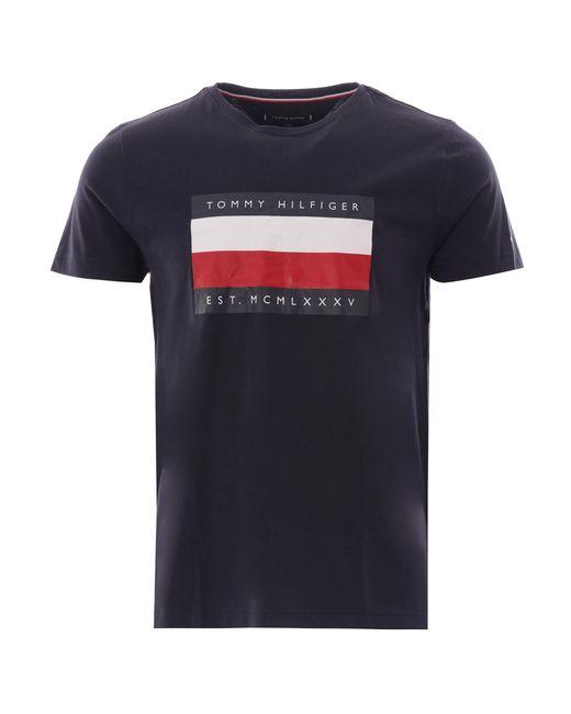 Tommy Hilfiger Blue Logo T Shirt for men