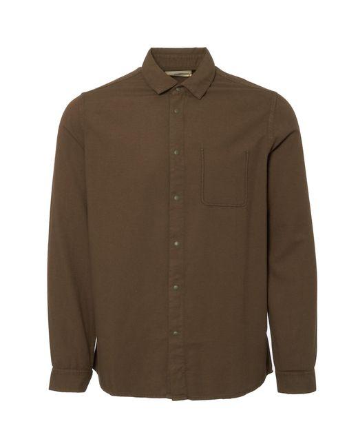 Folk - Military Green Flannel Pop Stud Shirt for Men - Lyst