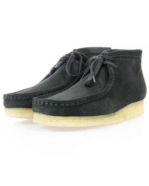 Clarks | Multicolor Wallabee Black Suede Boot for Men | Lyst
