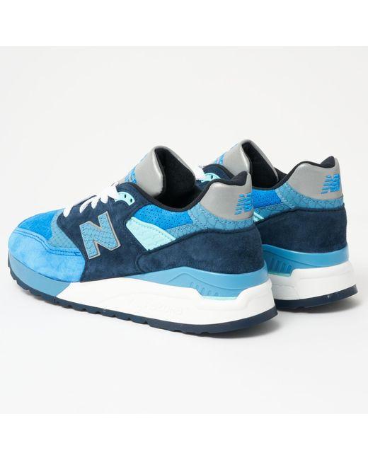 buy online 26950 4564c Men's 998 Made In Us - Blue & Silver