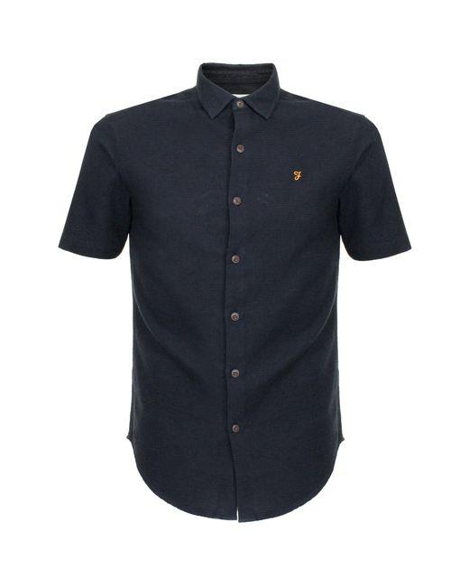 Farah - Blue Bolham Slim Ss Navy Shirt for Men - Lyst