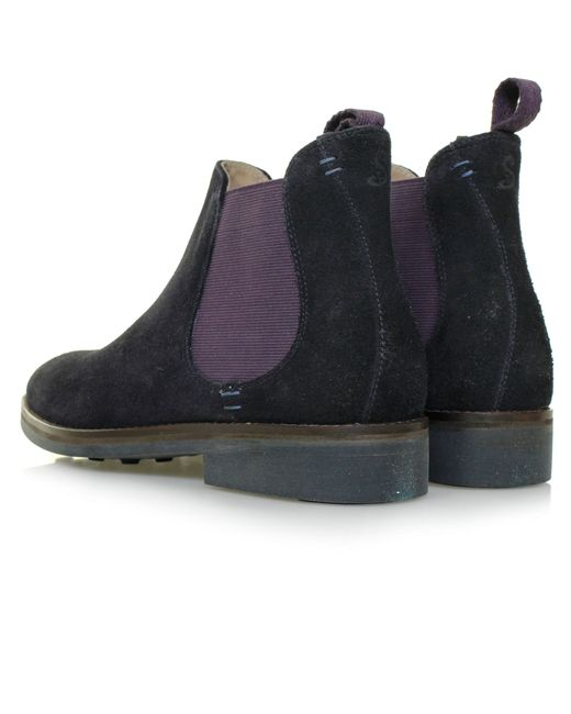 oliver sweeney burrows navy suede chelsea boots in blue lyst