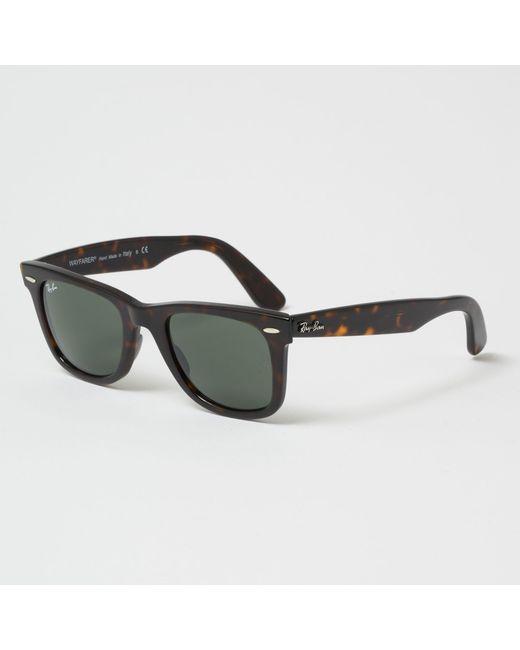 e2317c28cac33 Ray-Ban - Multicolor Tortoise Original Wayfarer Classic Sunglasses - Green  Classic G-15 ...