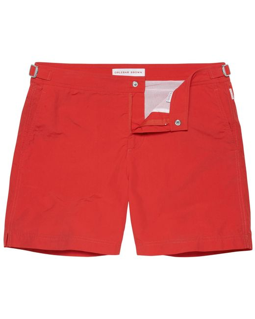 Orlebar Brown Bulldog Rescue Red Swim Shorts for men