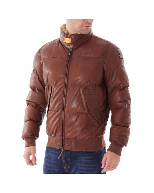 Parajumpers Brown Kristof Leather for men