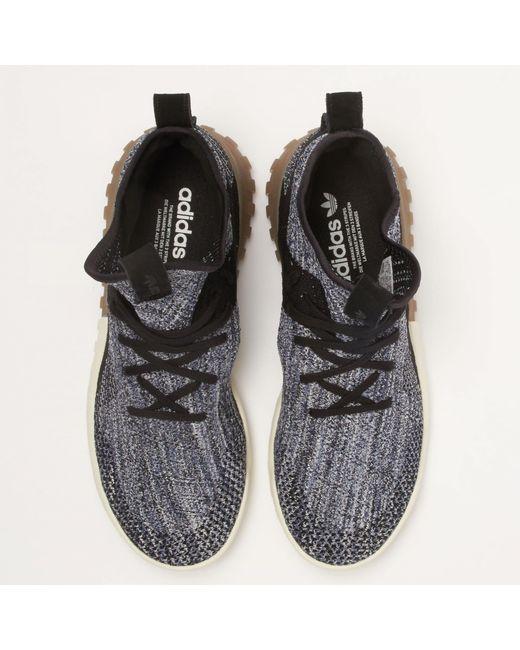 sports shoes 9f8b9 8363b Men's Tubular X Primeknit - Crystal Black & Tactile Blue