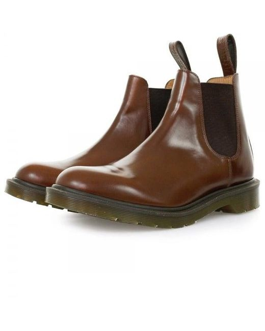 Dr. Martens - Red Dr Martens Graeme Tan Boanil Brush Boots for Men - Lyst