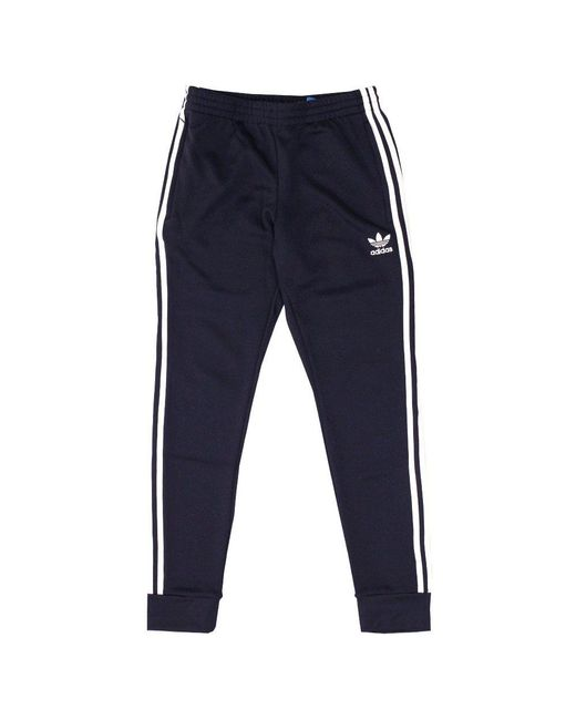Adidas Originals | Blue Superstar Cuffed Track Pants for Men | Lyst