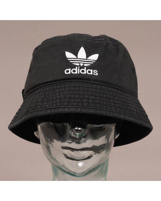 236f982e1c6f adidas Originals Trefoil Bucket Hat - Black in Black for Men - Lyst