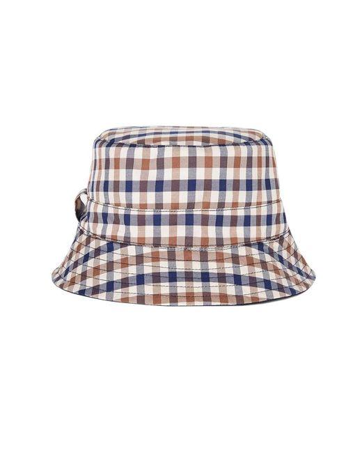 Lyst - Aquascutum Reversible Navy Bucket Hat in Blue for Men - Save ... 922b66495274