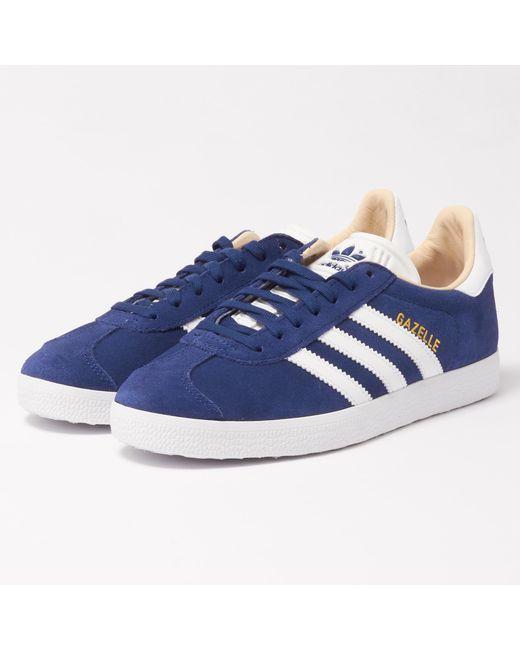 Lyst adidas originali wmns gazzella formatori nobile indigo in blu